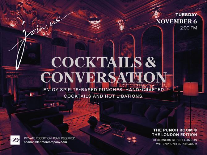 Larimer & Co. to Host Cocktails & Conversations at World Travel Market