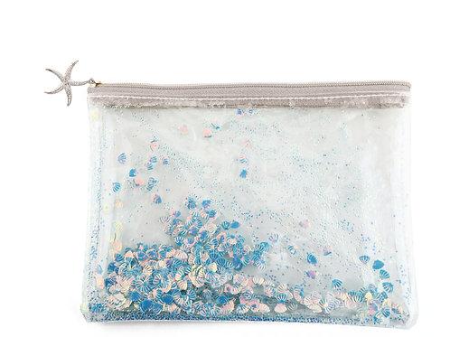 シェルグリッターポーチ Glitter Shell pouch M