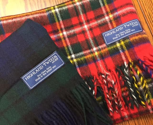 タータンチェックストール Highland Tweeds