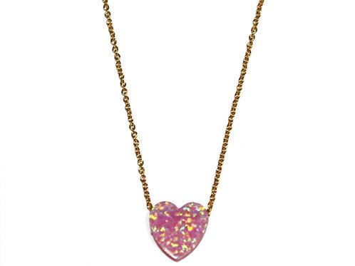 Synthetic Opal (シンセティックオパール)ネックレス Heart (ハート)