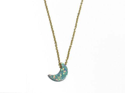 Synthetic Opal (シンセティックオパール)ネックレス Moon(ムーン