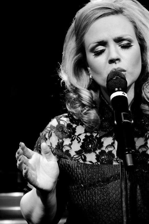 JC Brando as Adele mic closeup