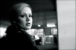 JC Brando as Adele bw over shoulder