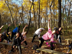 Extended Side Stretch at Brown's Woods