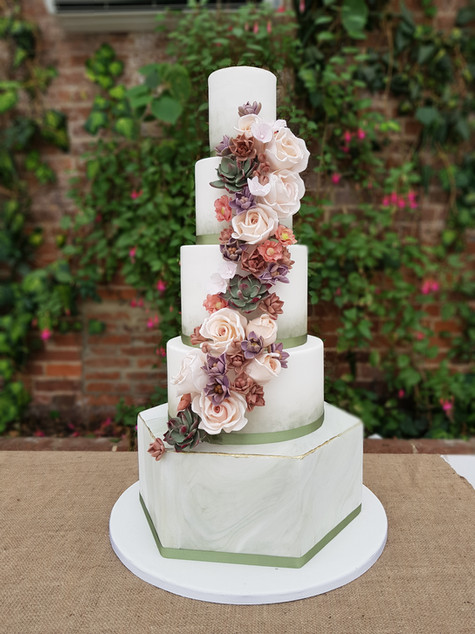 Botanical themed wedding cake
