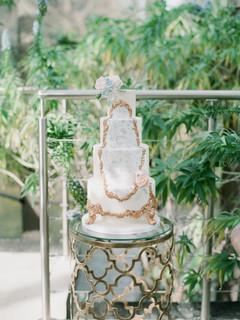 4 tier delicate china cake