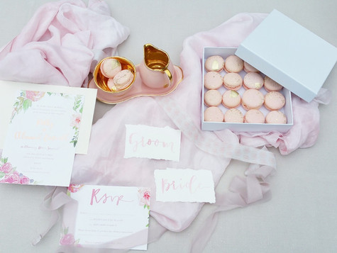 Flat lay Wedding treats