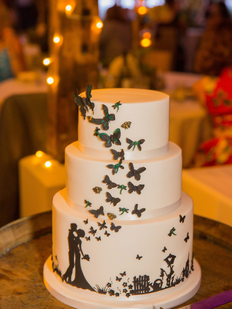 3 tier Butterfly Wedding Cake