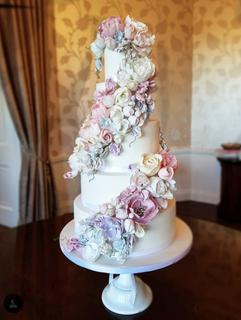 Double Cascade wedding cake