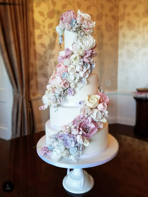 Double Cascade wedding cake