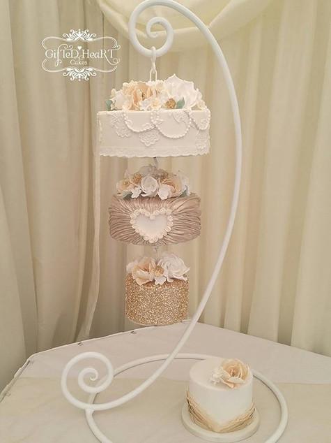 Sequin wedding cakes