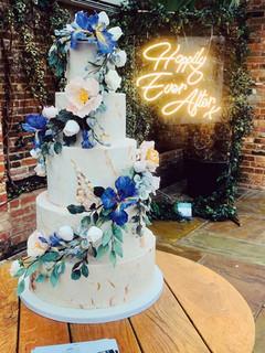 Iris Cascade Wedding Cake