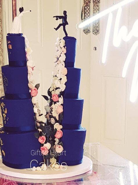 unique split wedding cake