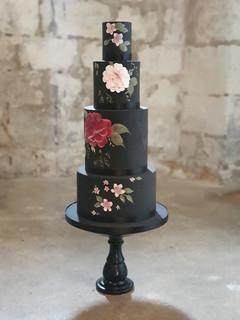 Black Hand Painted Cake