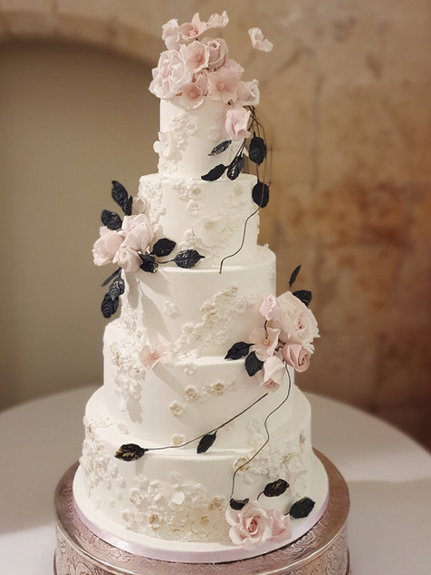5 tier fairytale wedding cake