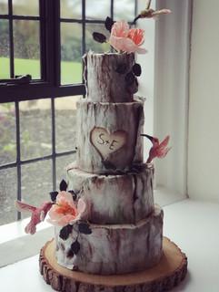 Bark and Birds cake