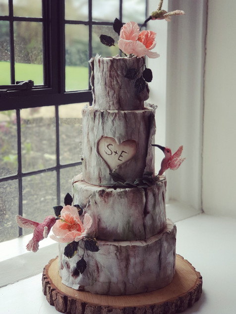 Bark and Birds cake