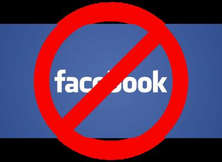 No más Facebook para mí