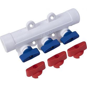 Коллектор П/ПР TEBO (32*20*3/4) вых. (красный/синий)