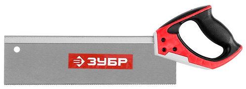 "Ножовка с обушком для стусла ""ЗУБР"" (110х350мм.) 13 TPI, точный рез"