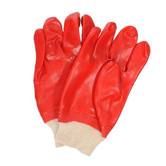 Перчатки маслостойкие красные нитрильный облив