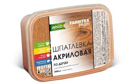 Шпатлёвка по дереву (Все цвета) 0,25л FARBITEX PROFI