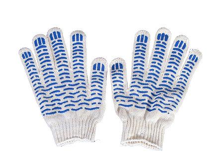 Перчатки Х/Б 5нитей 10кл. люкс2 белые волна