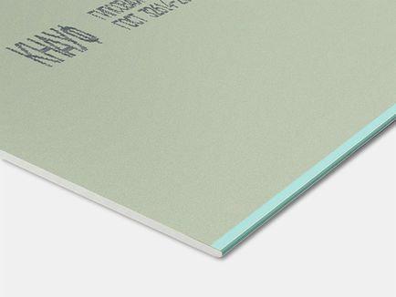 КНАУФ-лист влагостойкий - гипсовая строительная плита (2500х1200х12,5 мм)