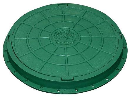 Люк с крышкой садовый (Зеленый)