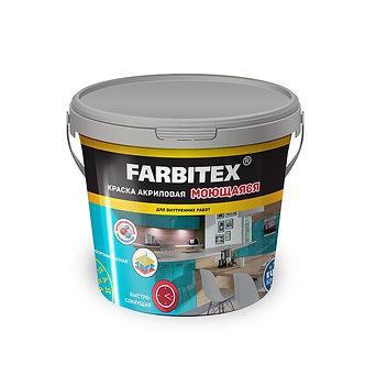 """Краска моющаяся """"FARBITEX"""" (13кг - Выбрать вес: 13,3,6кг )"""