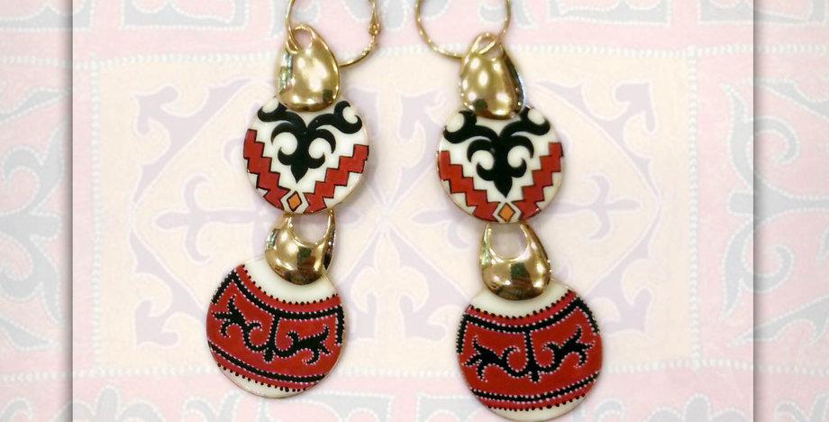 Earrings Suzani Style