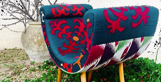 Settee Bench - Suzani Embroidered