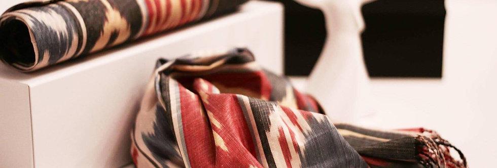 Adras clutch and scarf