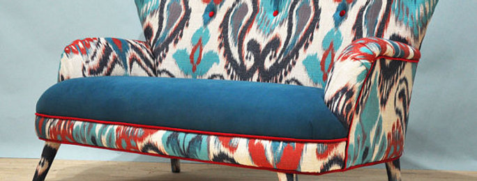 Sofa - Ikat on Velour