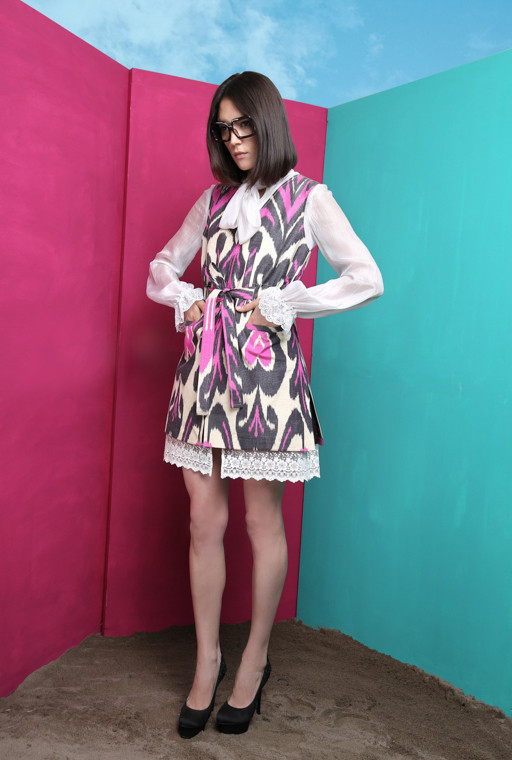 Uzbek couturier Lali, Cruise 2016, ethnic design, etno clothes, collection 2017, resort and spa