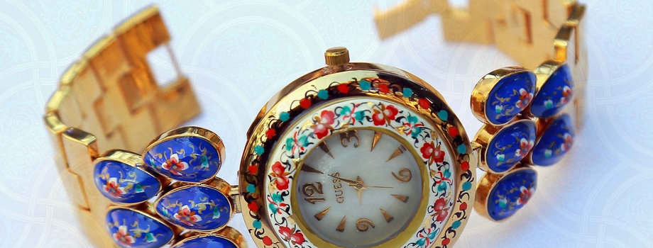 Ladies watches in uzbek style