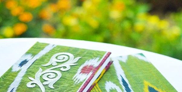 Hand-made adras note book