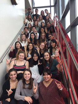cohort photo on last class day with Lisa Dobias