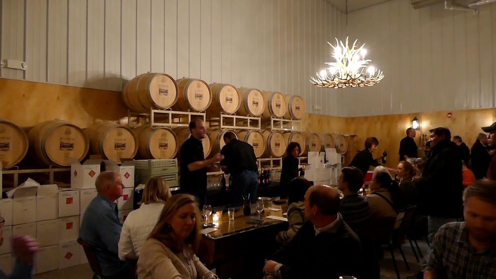 Westbend Winery & Brewery Barrel Room tasting
