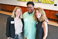 L-R Cathy McLaughlin, NCFWS Board; Willie Leak 2017 NC Fine Wines Scholarship Recipient; Barbara Raffaldini, NCFWS Board