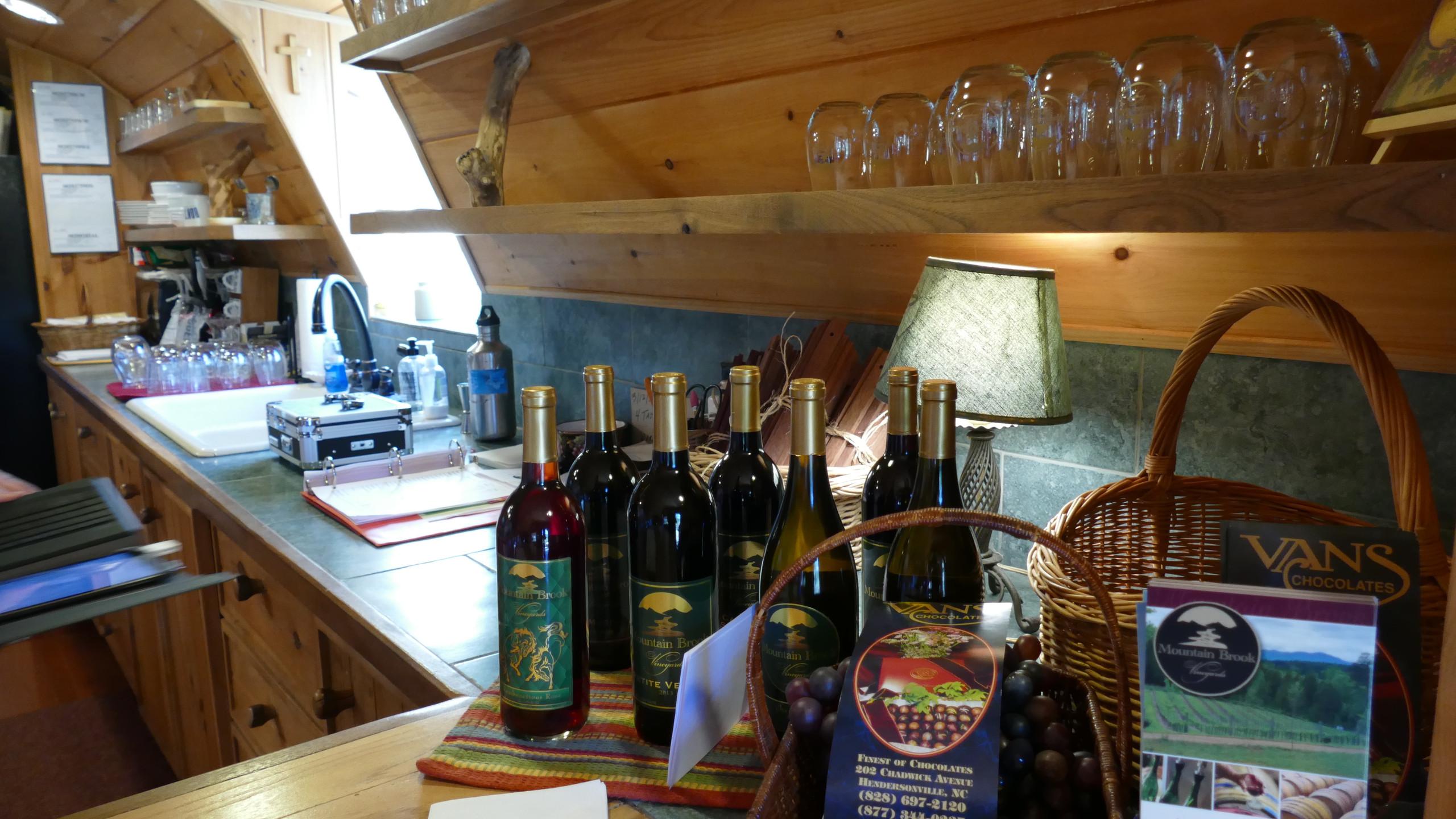 Mountain Lodge Style Tasting Room