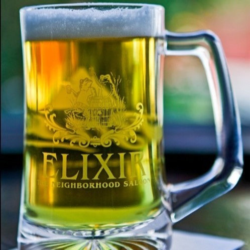 14.5oz Elixir / Bass branded beer mug