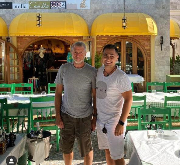ROMAN ABRAMOVITS and Konstantinos Manos Sun at Manos Fish Restaurant .jpg