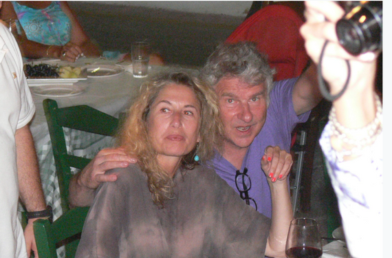 Friends of the famous PATRICK WACHSBERGER at Manos Fish Restaurant Symi Island