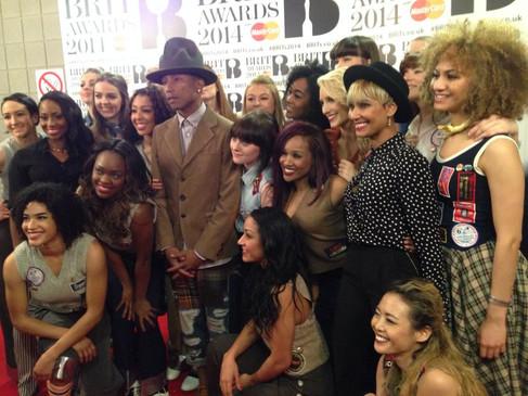Pharrell Williams & Dancers