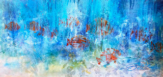 _To the Sea_    2' x 4' acrylic on canva