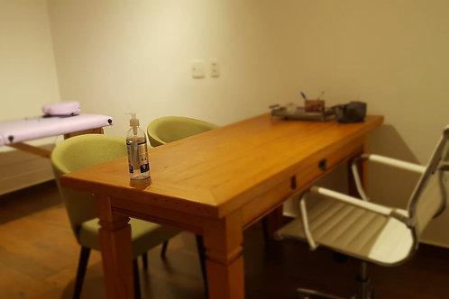 Cadeira office branca com rodinha