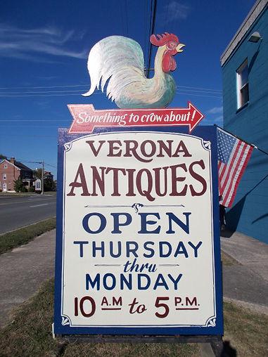 Verona Antiques sign