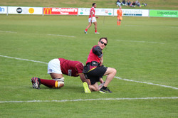 Colin attending to an injury on the field