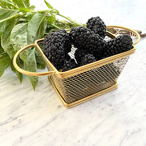 Gold Berry Basket